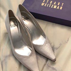 Stuart Weitzman Silver Heels